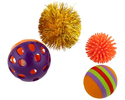 Pawise Cat Toy Assorted Balls 4 Pack-Toys-Pawise-Petland Canada