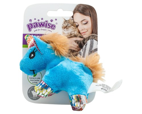 Pawise Unicorn Cat toy-Toys-Pawise-Unicorn with light brown mane & tail-Petland Canada
