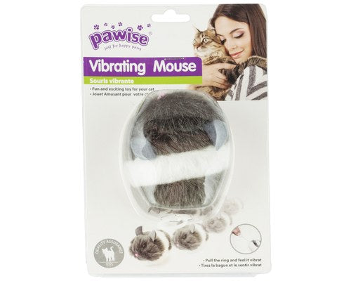 Pawise Vibrating Cat Toys; available in 2 styles-Toys-Pawise-Vibrating Mouse-Petland Canada