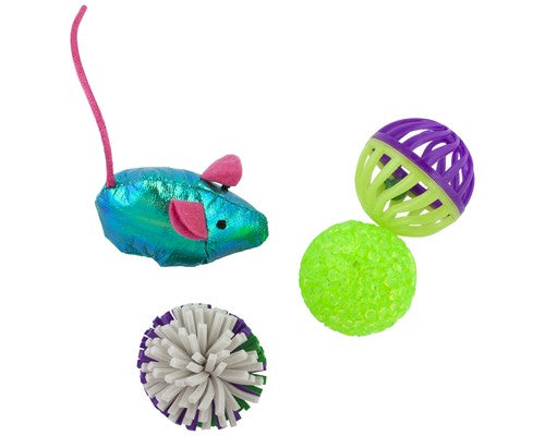 Pawise Cat Toy Assorted 4 Pack-Toys-Pawise-Petland Canada