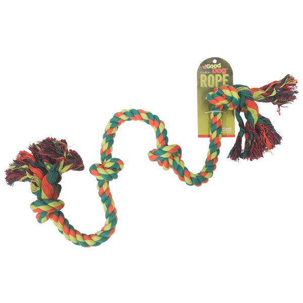 "Good Dog 4 Knot 36"" Multicolour Rope Bone-Toys-Good Dog-Petland Canada"