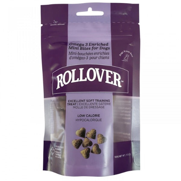 Rollover Mini Bites Semi-Soft Training Treat for Dogs; Available in 2 formulas