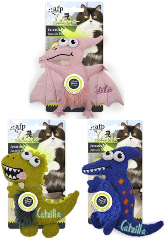 afp Catzilla Jurassic Pal Catnip Filled Plush Toys