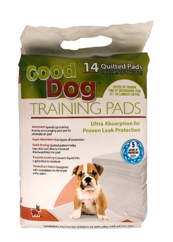 Good Dog Super Absorbent Training Pads for Dogs-Training & Behavior-Good Dog-14 pack (24 x 24)-Petland Canada