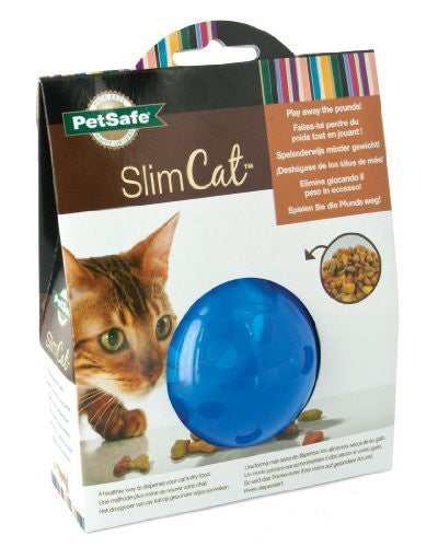 Blue PetSafe SlimCat Interactive Feeder Toy