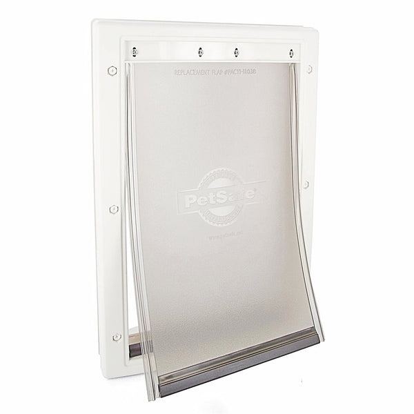 PetSafe Premium Plastic White Pet Door; Available in 4 sizes