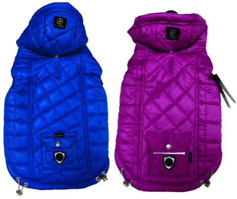 Silver Paw Multi Quilted Hooded Jacket