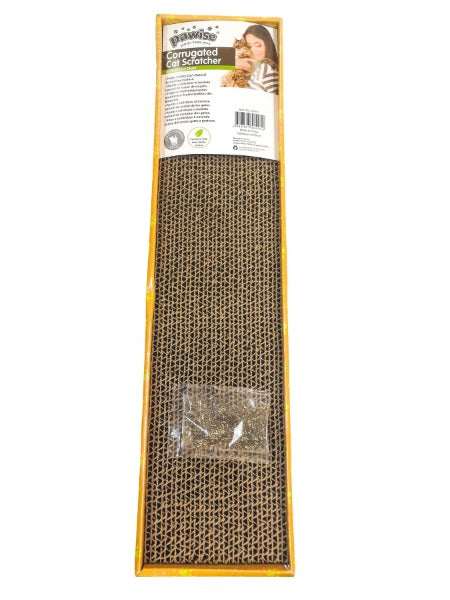 Pawise Cardboard Cat Scratchers; Available in Different Styles-Furniture & Scratchers-Pawise-Thin Rectangle-Petland Canada