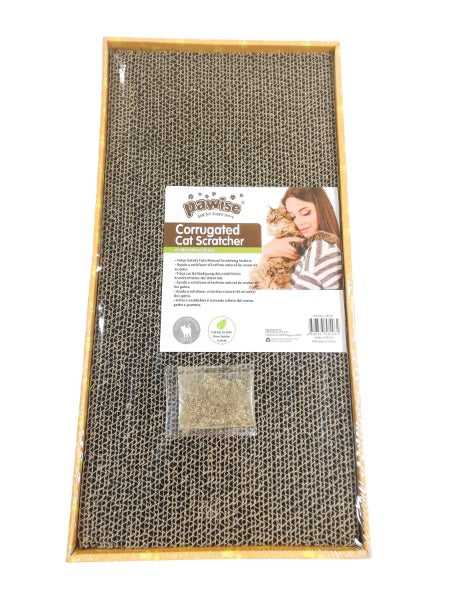 Pawise Cardboard Cat Scratchers; Available in Different Styles-Furniture & Scratchers-Pawise-Wide Rectangle-Petland Canada