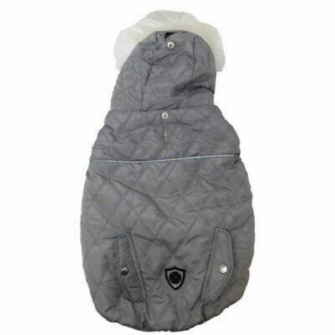 Silver Paw Black and Grey Fashion Jacket with Knit Hood; Available in Several Sizes