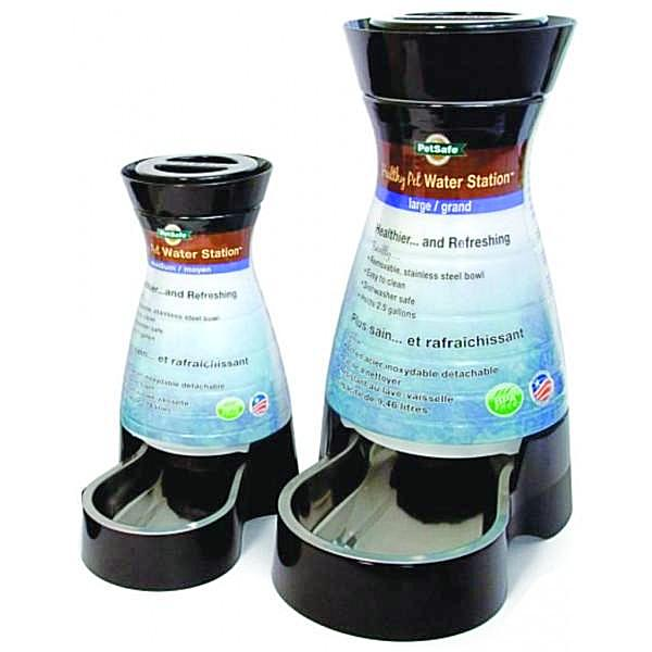 PetSafe Healthy Pet Water Station; available in 2 sizes.
