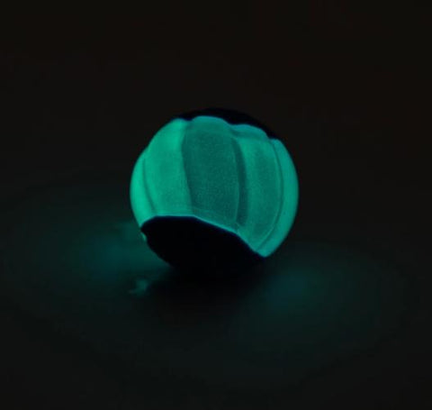 Zeus DUO 2Pk Balls with Squeaker-Glows in the Dark: Available in 2 Sizes