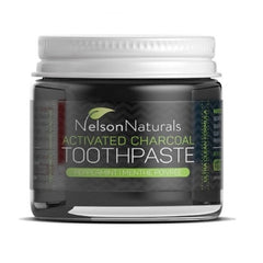 Activated Charcoal Toothpaste, Peppermint - Nelson Naturals