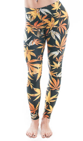 Errl Weed Print Leggings! - Miss Mary Jane Co.