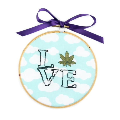 """Weed Is Love"" Cross Stitch! - Miss Mary Jane Co."