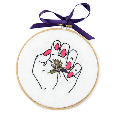 """My Little Bud"" Cross Stitch! - Miss Mary Jane Co."