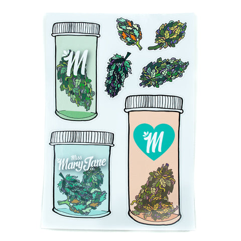 Medicated Sticker Sheet! - Miss Mary Jane Co.
