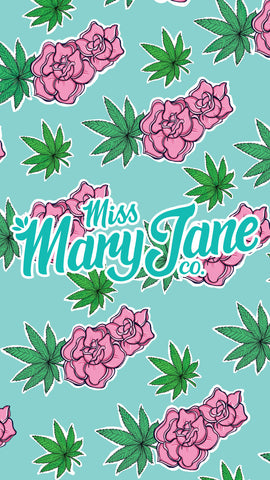 Phone Wallpaper! - Rose & Weed Print! - Miss Mary Jane Co.