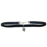 Cannabis Couture Velvet Choker- Black & SIlver! - Miss Mary Jane Co.