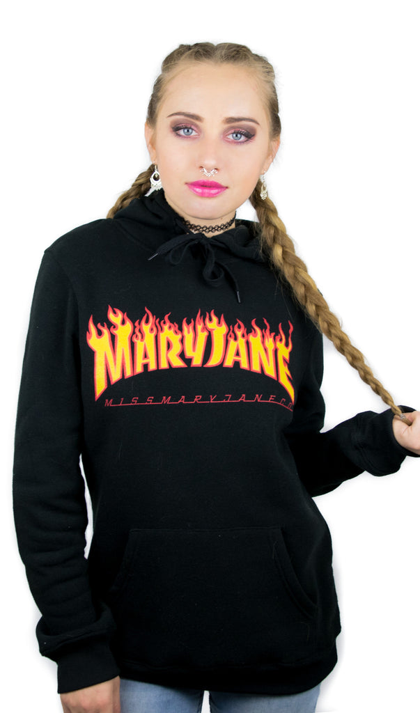 Mary Jane On Fire Hoodie! - Miss Mary Jane Co.