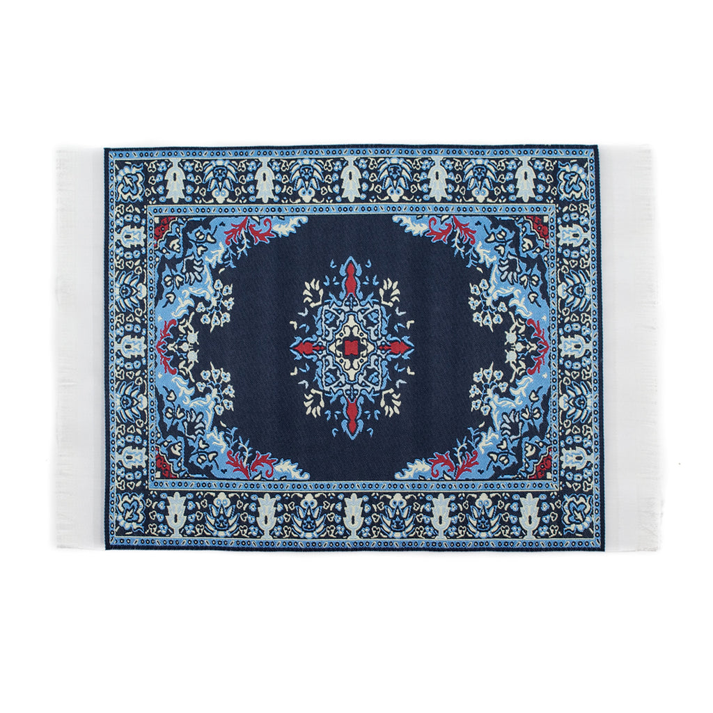 Persian Rug Glass Mat- Navy Blue! - Miss Mary Jane Co.