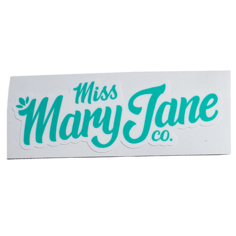 Miss Mary Jane Co. Teal Logo Sticker! - Miss Mary Jane Co.