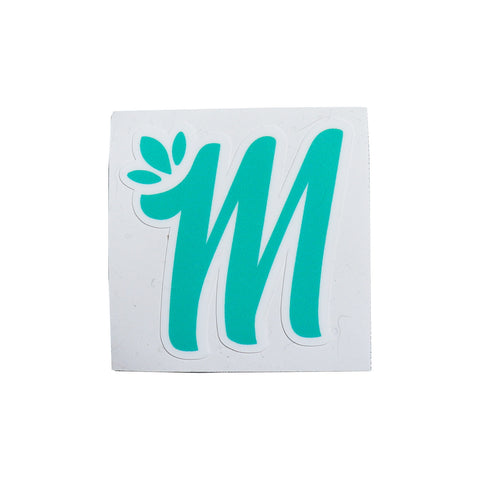 Miss Mary Jane M Teal Logo Sticker! - Miss Mary Jane Co.