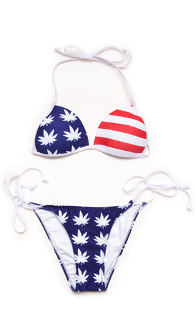Amerijuana Weed Leaf Bikini! - 30% OFF! - Miss Mary Jane Co.