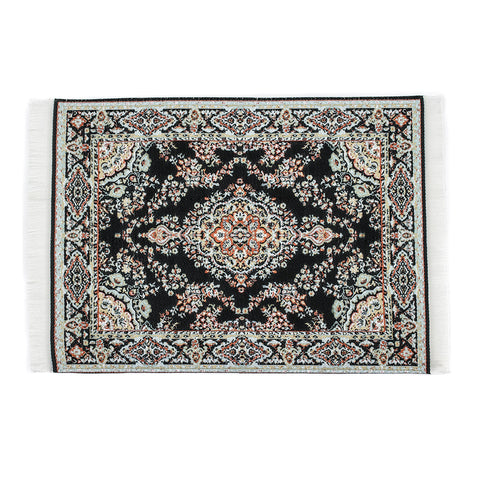 Persian Rug Glass Mat- Black! - Miss Mary Jane Co.