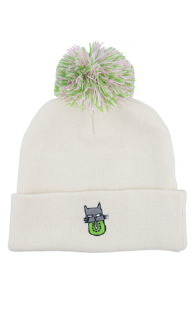 "Sakibomb ""Cat Kiwi"" Beanie! - Miss Mary Jane Co."