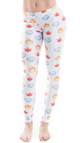 Smokin' Emoji Leggings! - Miss Mary Jane Co.
