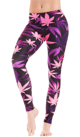 Galaxy Weed Print Leggings! - Miss Mary Jane Co.
