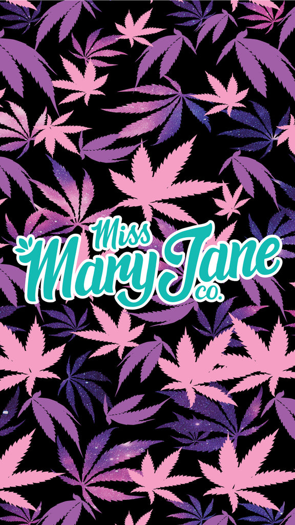 Phone Wallpaper! - Galaxy Weed Print! - Miss Mary Jane Co.
