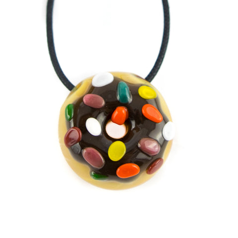 KGB Donut Pendant! - Chocolate Frosted with Sprinkles! - Miss Mary Jane Co.