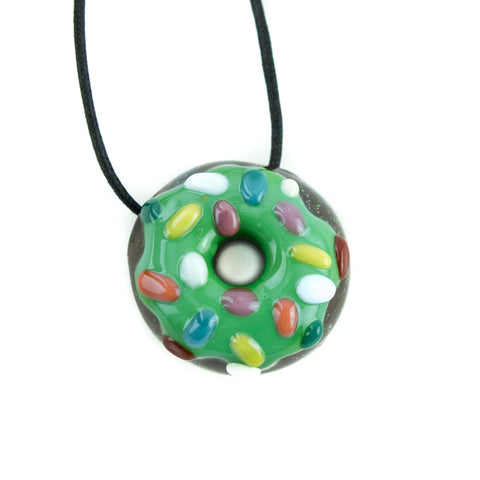 KGB Donut Pendant! - Green Frosted with Sprinkles! - Miss Mary Jane Co.