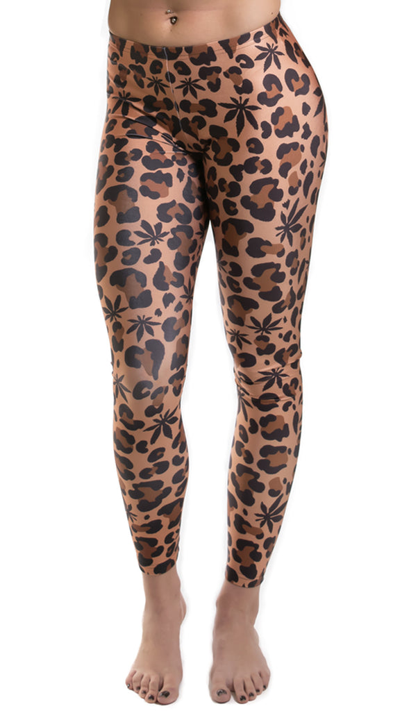 Weed Leopard Leggings! - Miss Mary Jane Co.