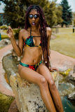 Reversible Rasta Weedkini Top! - Miss Mary Jane Co.