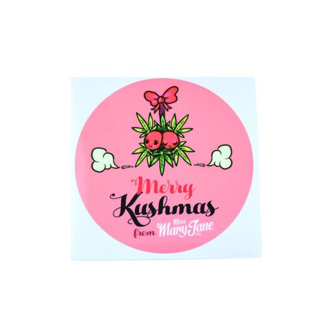 Merry Kushmas Sticker!