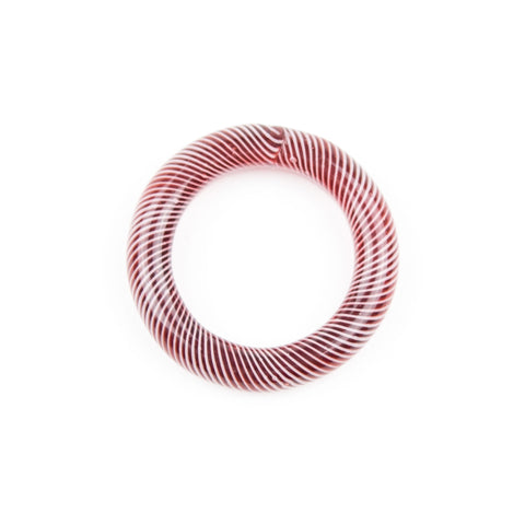 Marni x Harold Cooney Glass Ring- Maroon & White! - Miss Mary Jane Co.