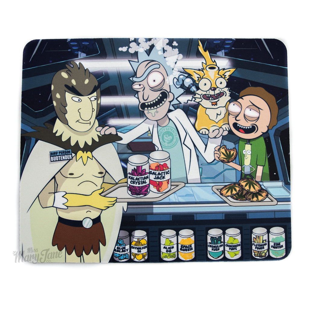 Rick and Morty Go To The Dispensary Dab Mat! - Miss Mary Jane Co.