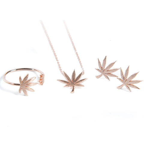 Cannabis Couture Jewelry Set- Rose Gold! - Miss Mary Jane Co.