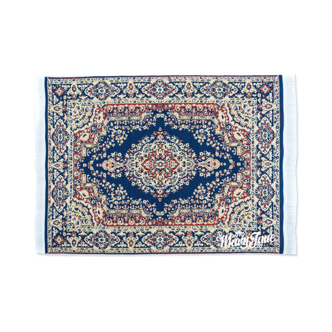 Persian Rug Glass Mat- Blue & Beige!