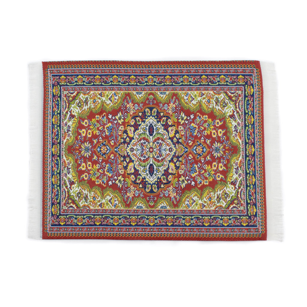 Persian Rug Glass Mat- Red! - Miss Mary Jane Co.