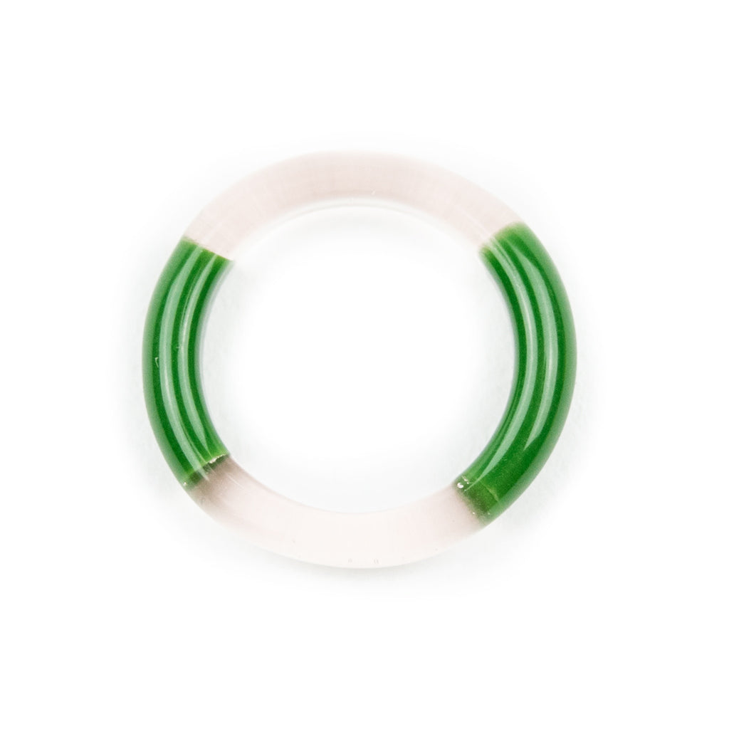Marni 2 Tone Glass Ring- Serum & Forest Green! - Miss Mary Jane Co.