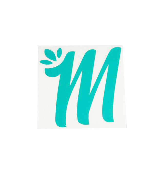 Giant Miss Mary Jane M Teal Logo Sticker! - Miss Mary Jane Co.