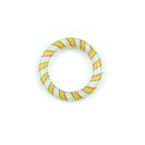 Marni x Harold Cooney Glass Ring- White & Rasta! - Miss Mary Jane Co.