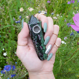 Ruby Green Epodite Crystal Pipe! - Miss Mary Jane Co.