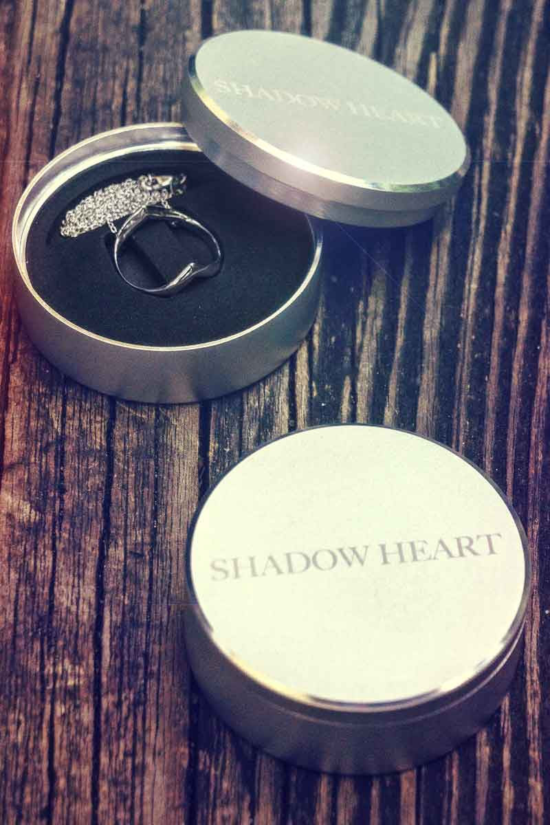 Shadow Heart comes in Aluminum case.