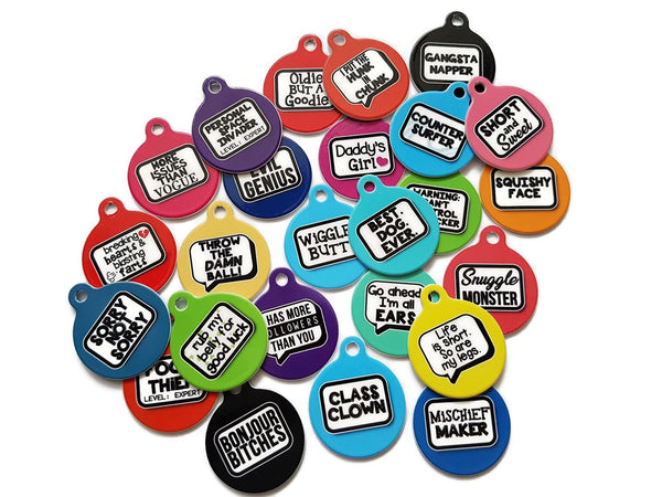 Funny pet tags