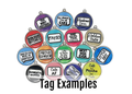 Grungey Rainbow Pet ID Tag